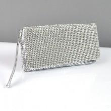 c3f744d4cf7b Клатч из камней женский выпускной вечерний сумка малая серебро Rose Heart  3211