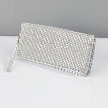 204d1ffc4ac0 ... Клатч из камней женский выпускной вечерний сумка малая серебро Rose  Heart 3211 ...