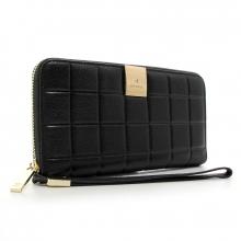 0d30c6136d8c Купить Кошелек кожаный женский на молнии черный Chanel 60019