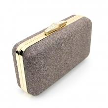 Купить Клатч-бокс сумочка коричневая женская блестки Rose Heart 09829 e5d60ae7055