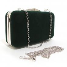 743a72819d97 Клатч-бокс сумочка женская велюр зеленая Rose Heart 09829-1